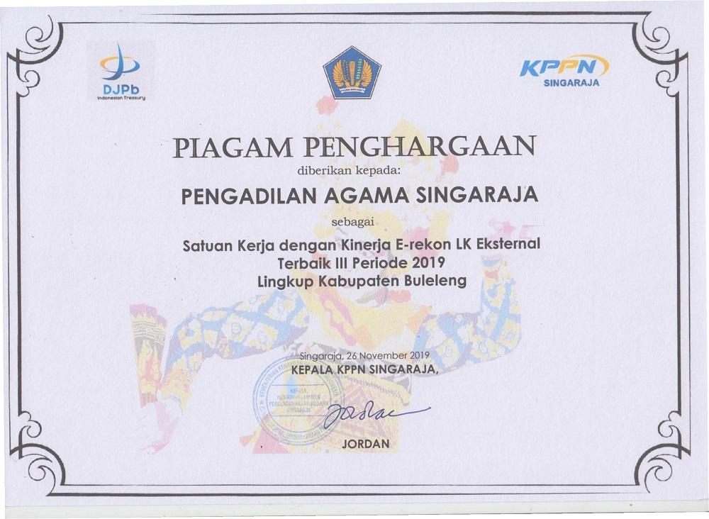 PA Singaraja raih penghargaan dari KPPN